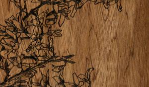 Wooden book illustration