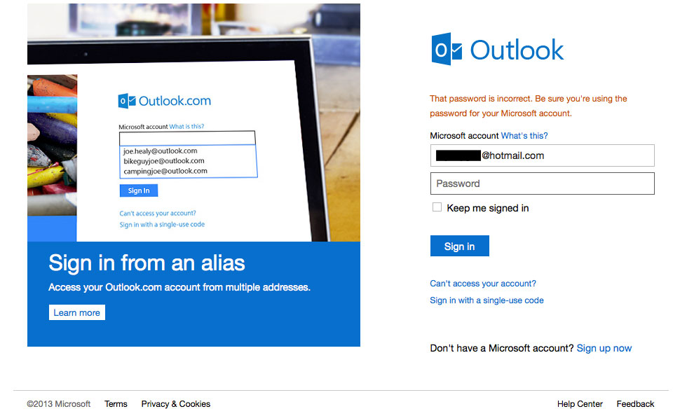 outlook-incorrectemail