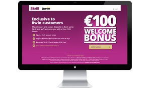 Campaign landing page – welcome bonus