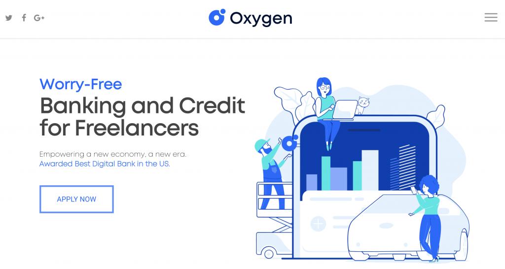 Screenshot from Oxygen bank